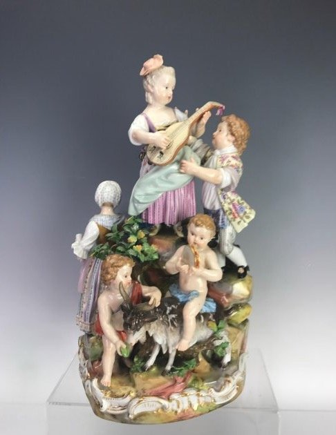 A LARGE 19TH C. MEISSEN MUSICAL GROUP - 4
