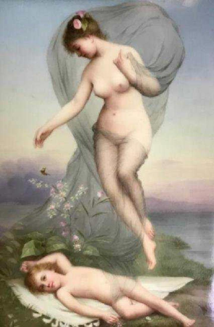 19TH C. BERLIN KPM PORCELAIN PLAQUE - 2