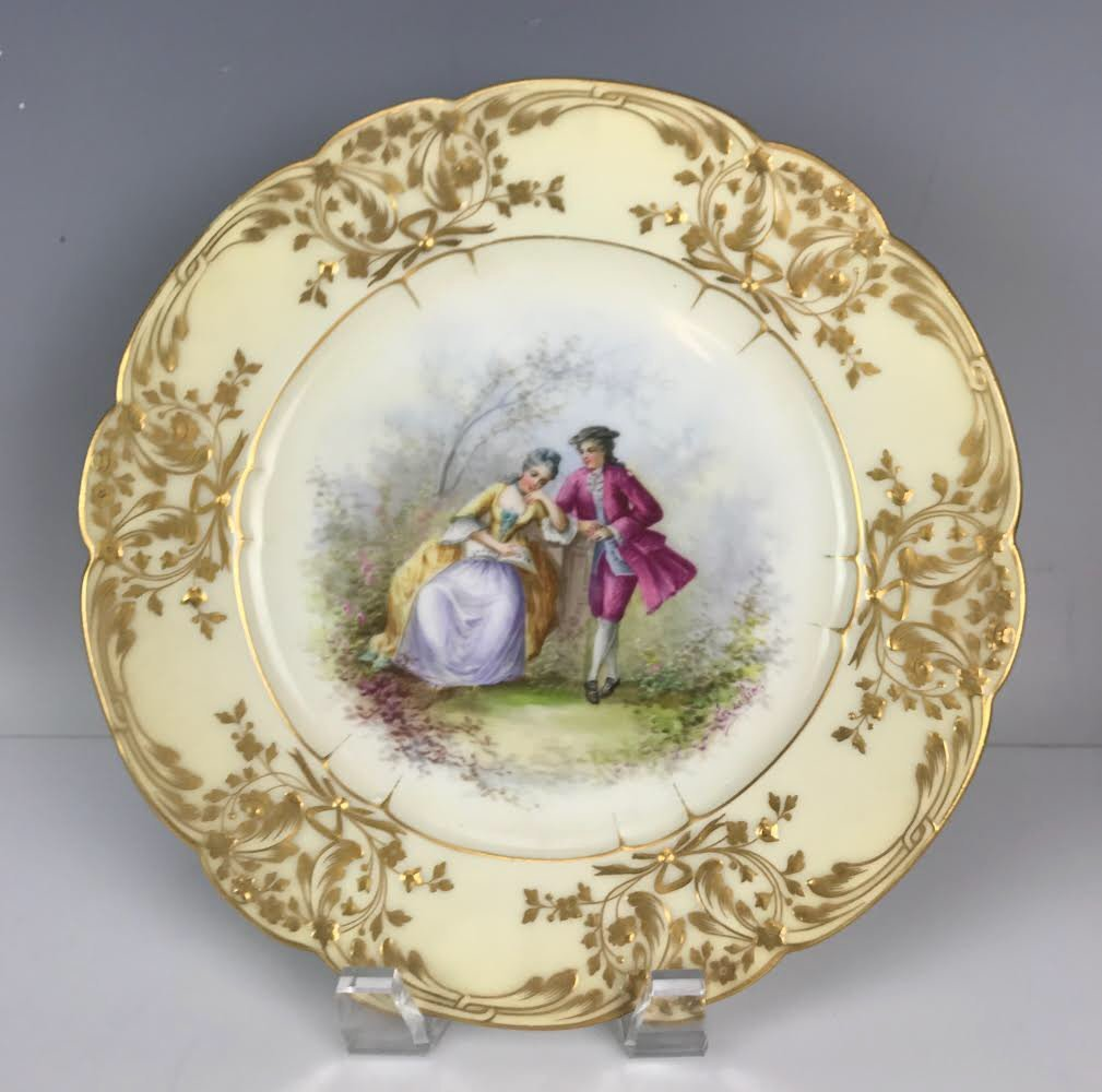 19TH C. SEVRES PORCELAIN PLATE