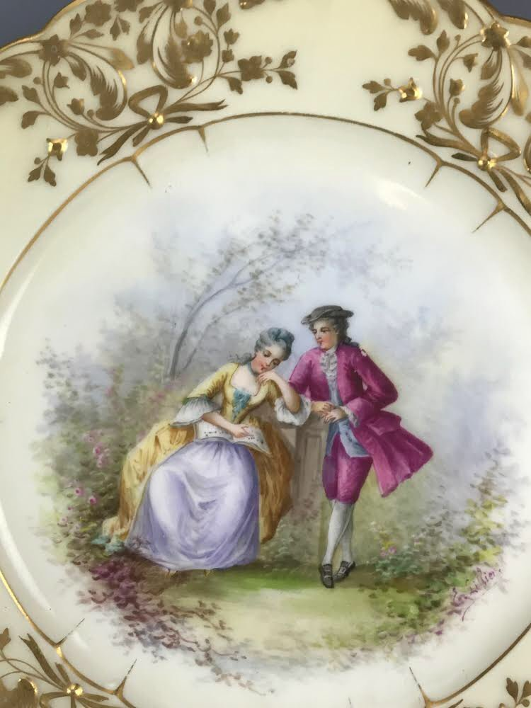 19TH C. SEVRES PORCELAIN PLATE - 2