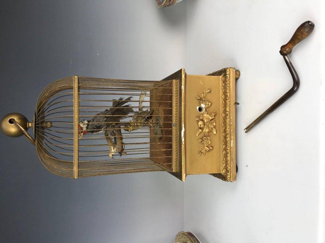 LARGE 3 BIRDS AUTOMATON BIRD CAGE - 4