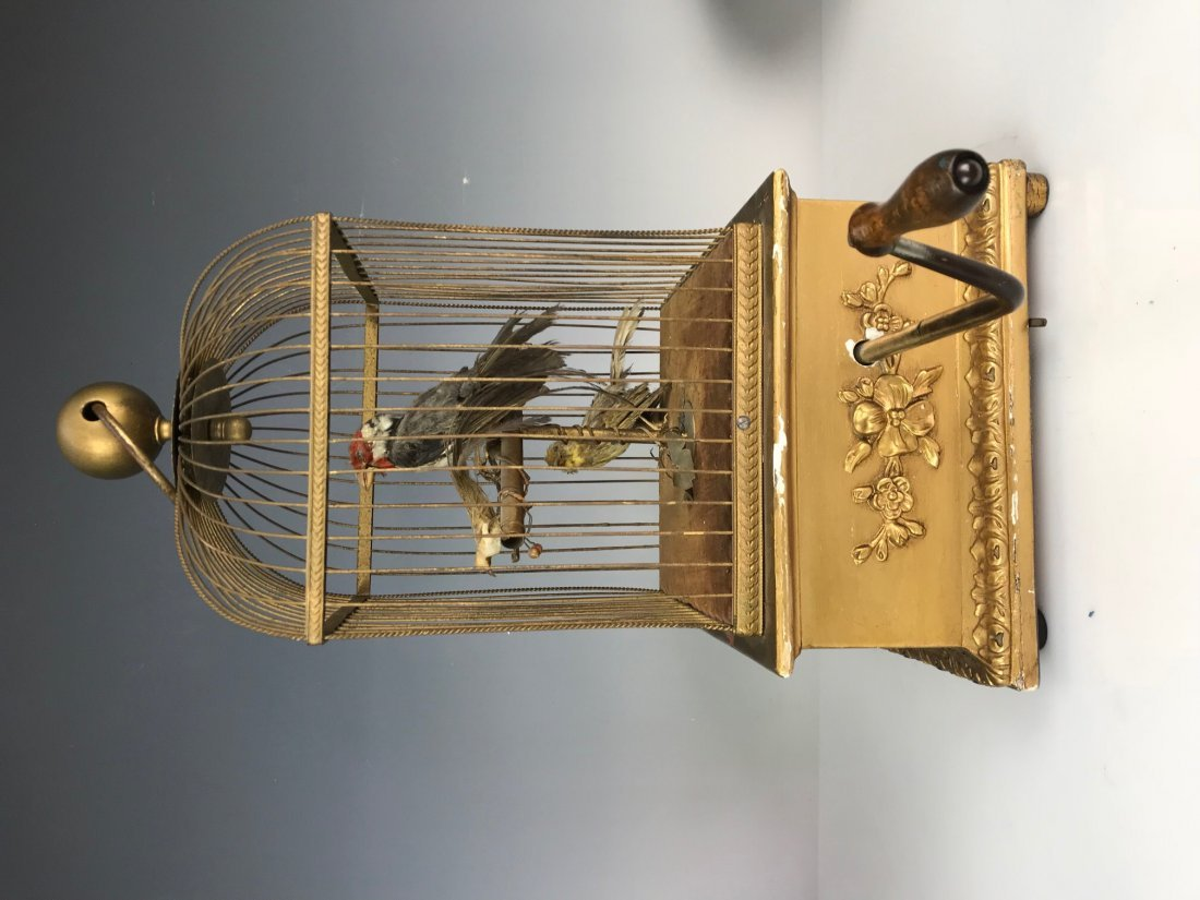 LARGE 3 BIRDS AUTOMATON BIRD CAGE - 5