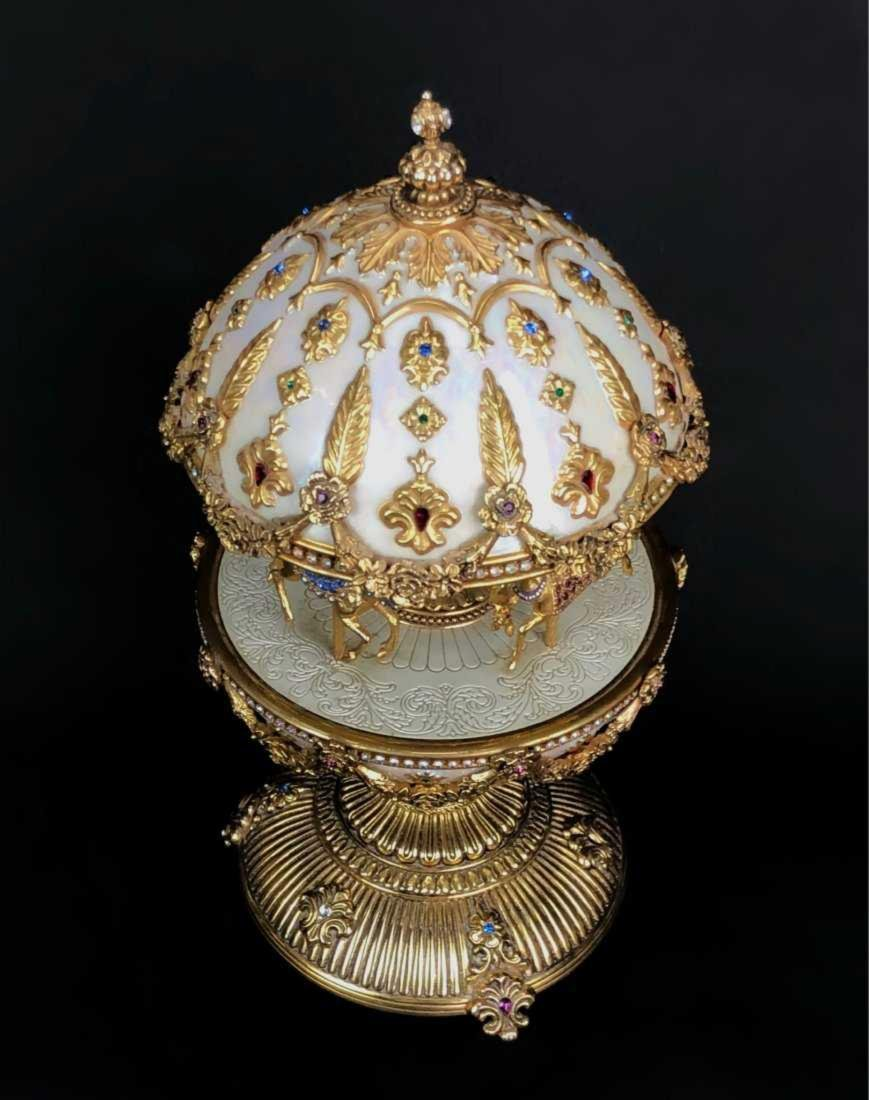 THE FABERGE IMPERIAL CAROUSEL MUSICAL EGG - 2