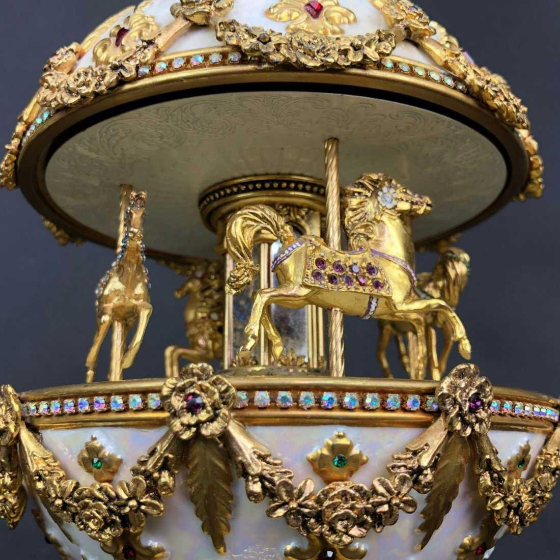 THE FABERGE IMPERIAL CAROUSEL MUSICAL EGG - 3