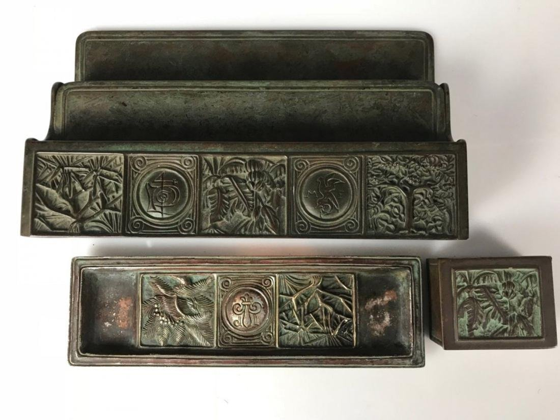TIFFANY STUDIOS DESK SET CIRCA 1920