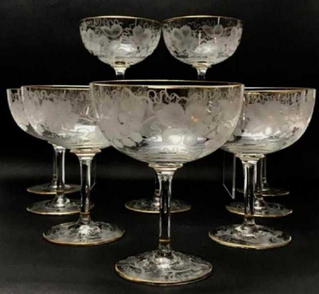 SET OF 10 LARGE MOSER GLASSES