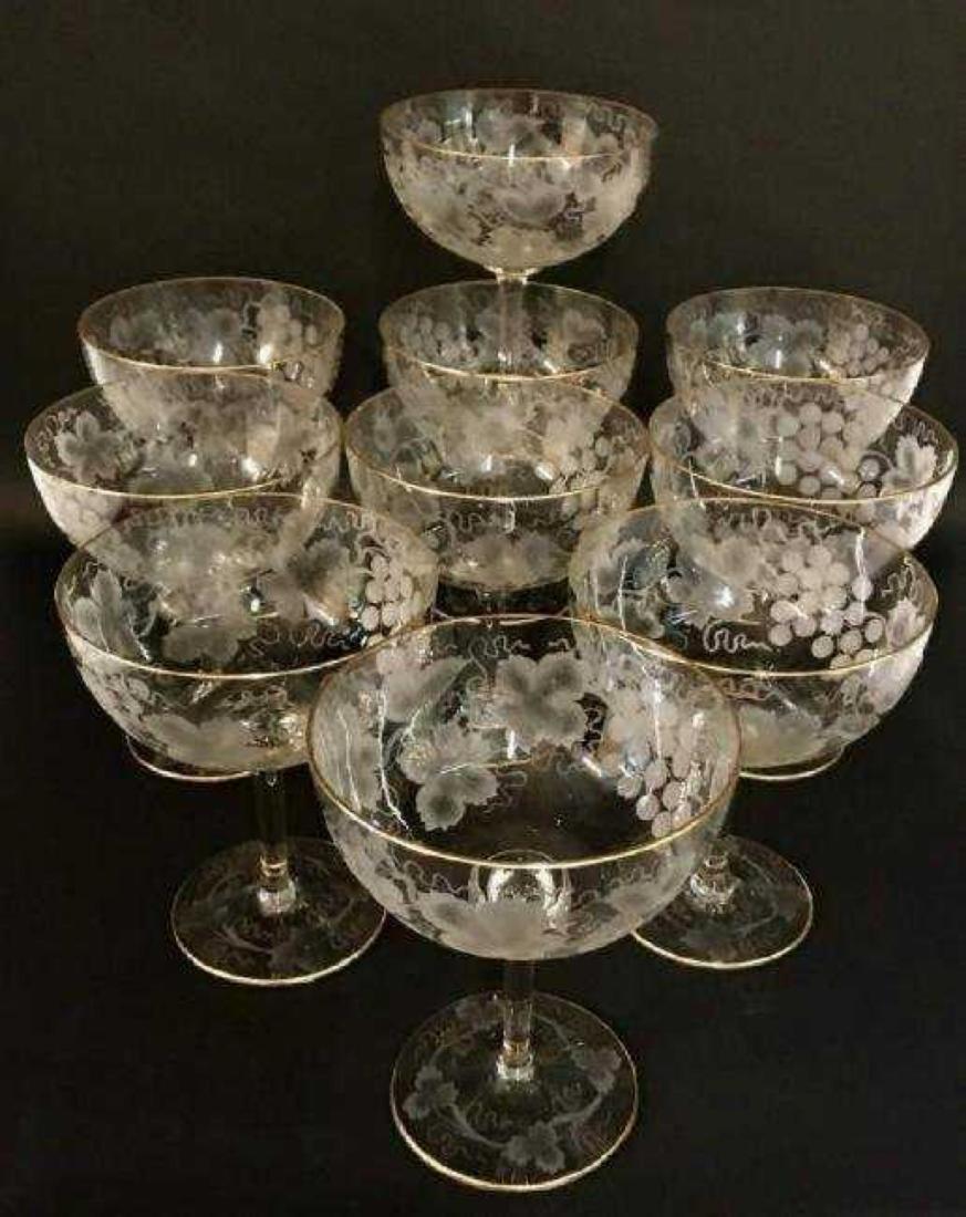 SET OF 10 LARGE MOSER GLASSES - 2