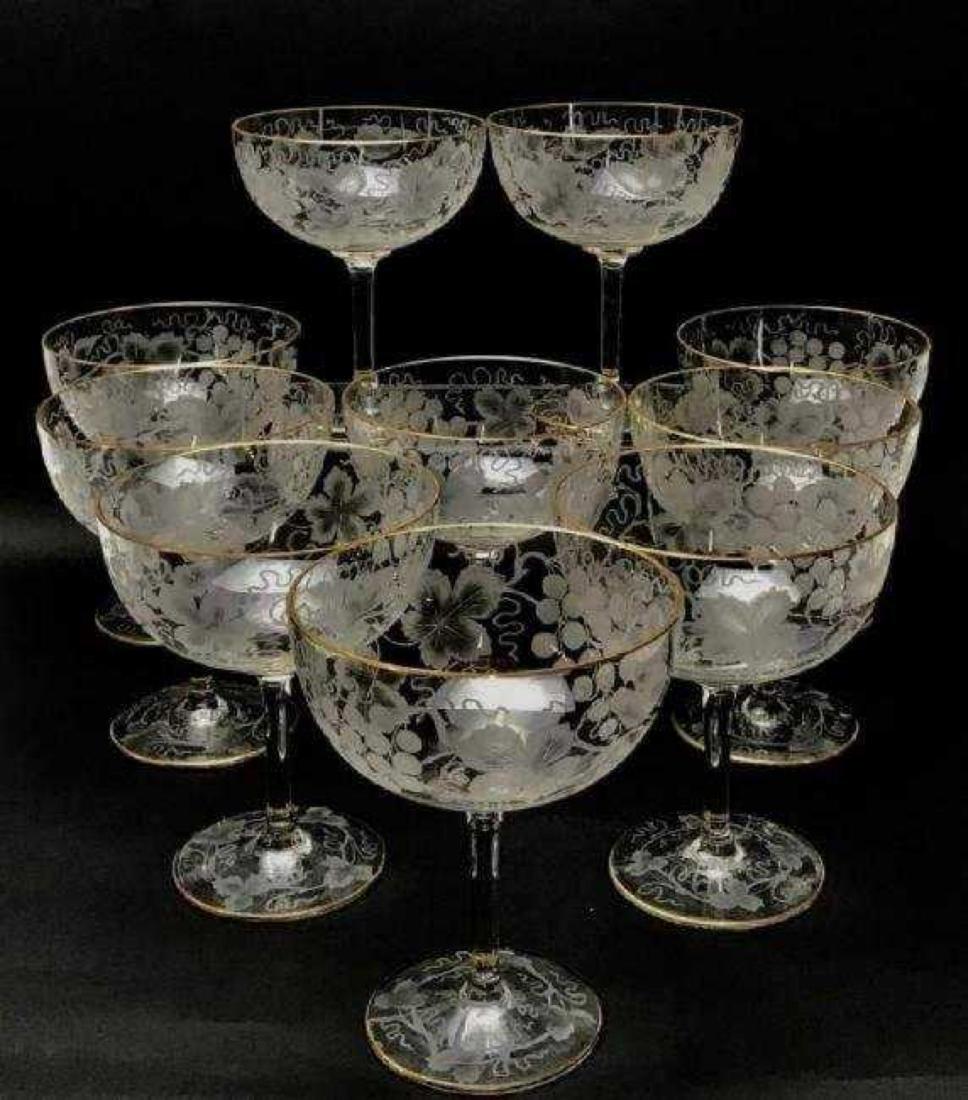 SET OF 10 LARGE MOSER GLASSES - 4