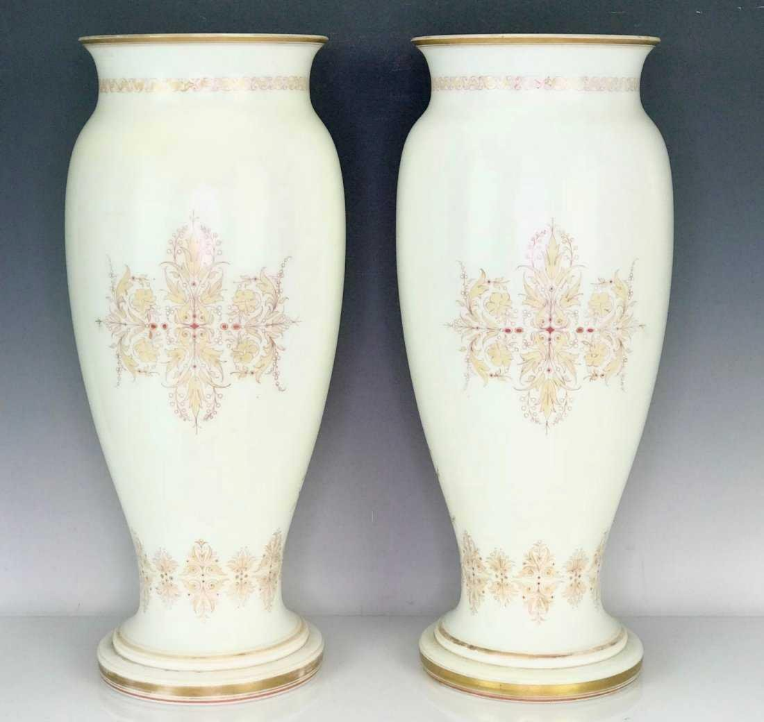 A LARGE PAIR OF BACCARAT VASES - 2