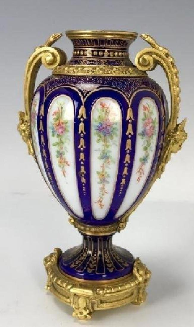 19TH C. ORMOLU MOUNTED BACCARAT VASE - 3
