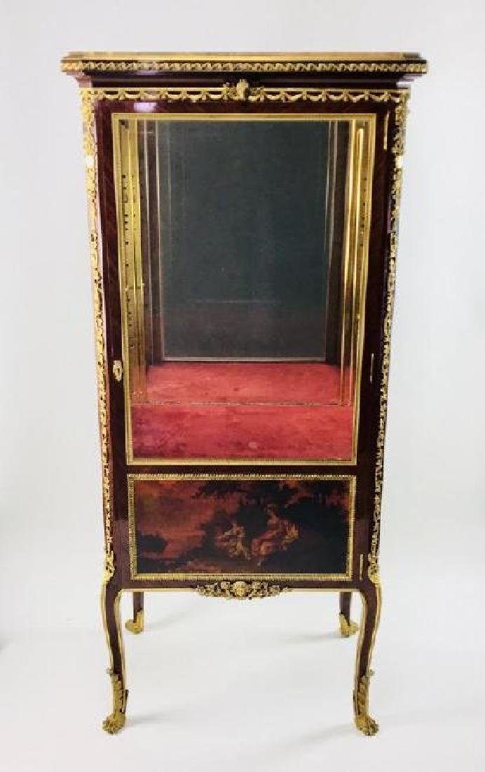 19TH C. ORMOLU MOUNTED KINGWOOD VITRINE