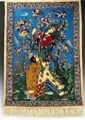 PERSIAN SILK FOUNDATION ISPHAHAN PICTORIAL RUG
