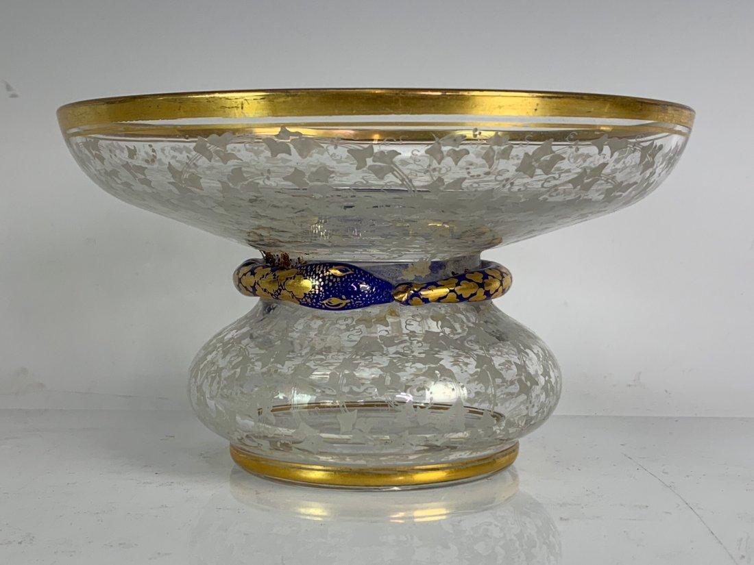 A PAIR OF 19TH C. BOHEMIAN GLASS BONBONIERE - 2