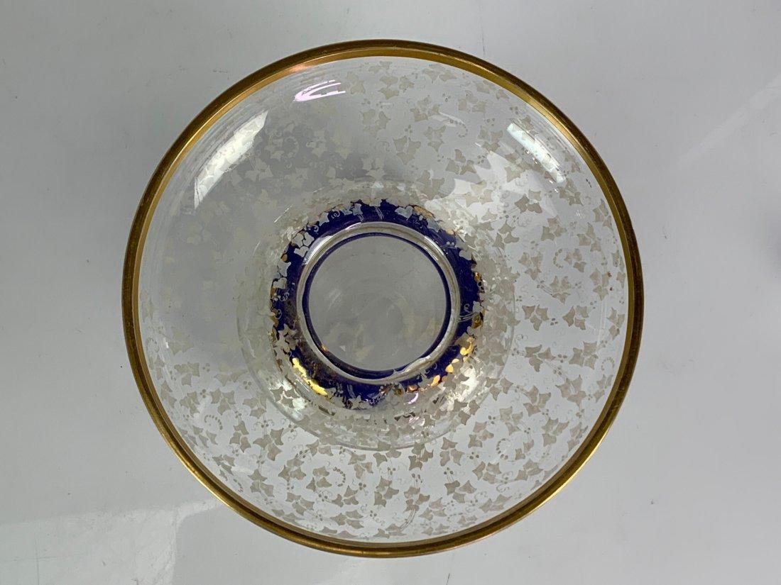 A PAIR OF 19TH C. BOHEMIAN GLASS BONBONIERE - 3