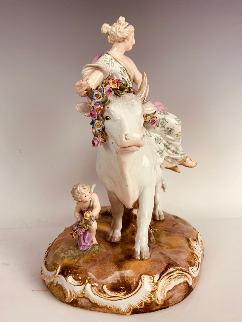 """19TH C. MEISSEN GROUP DEPICTING """" EUROPA"""" - 4"""