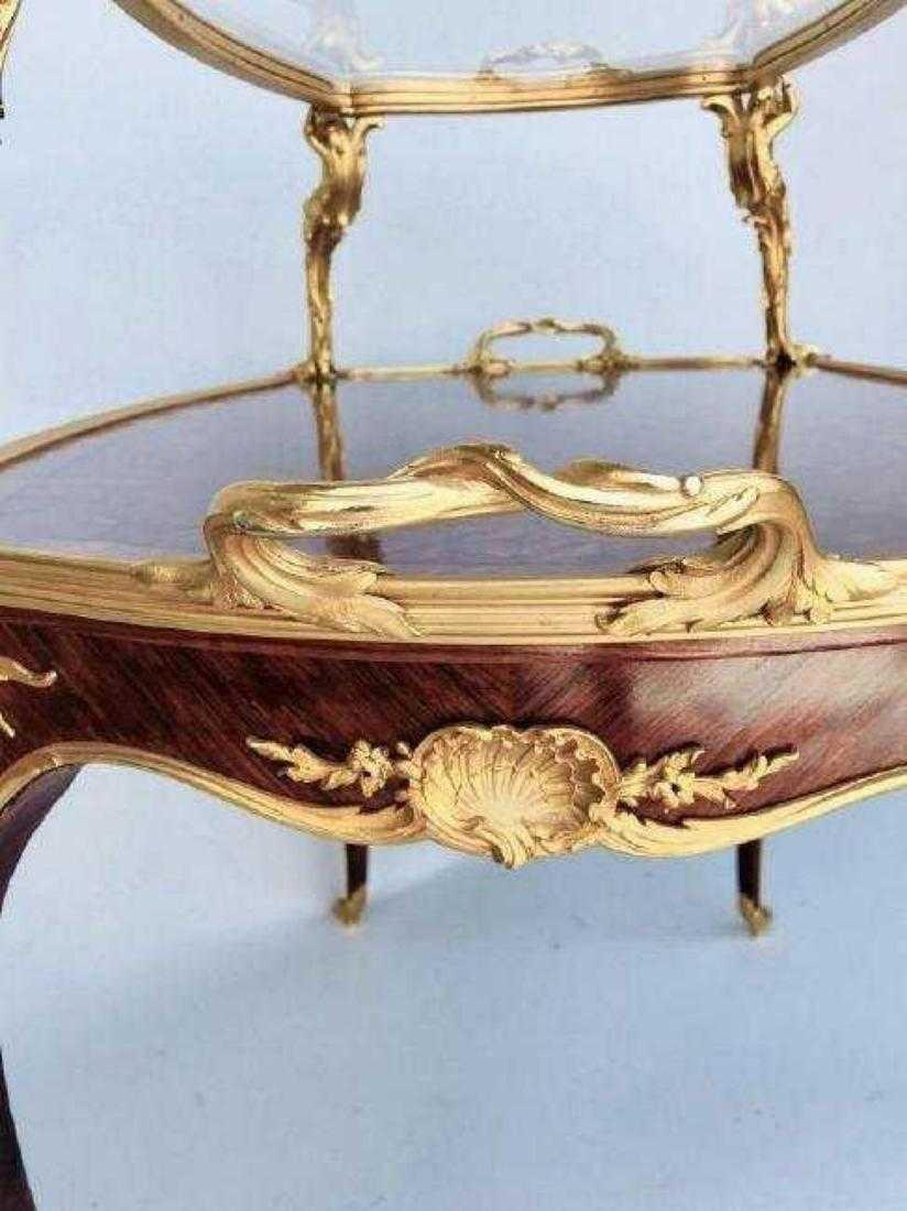 ORMOLU MOUNTED KINGWOOD TEA TABLE SIGNED LINKE - 2
