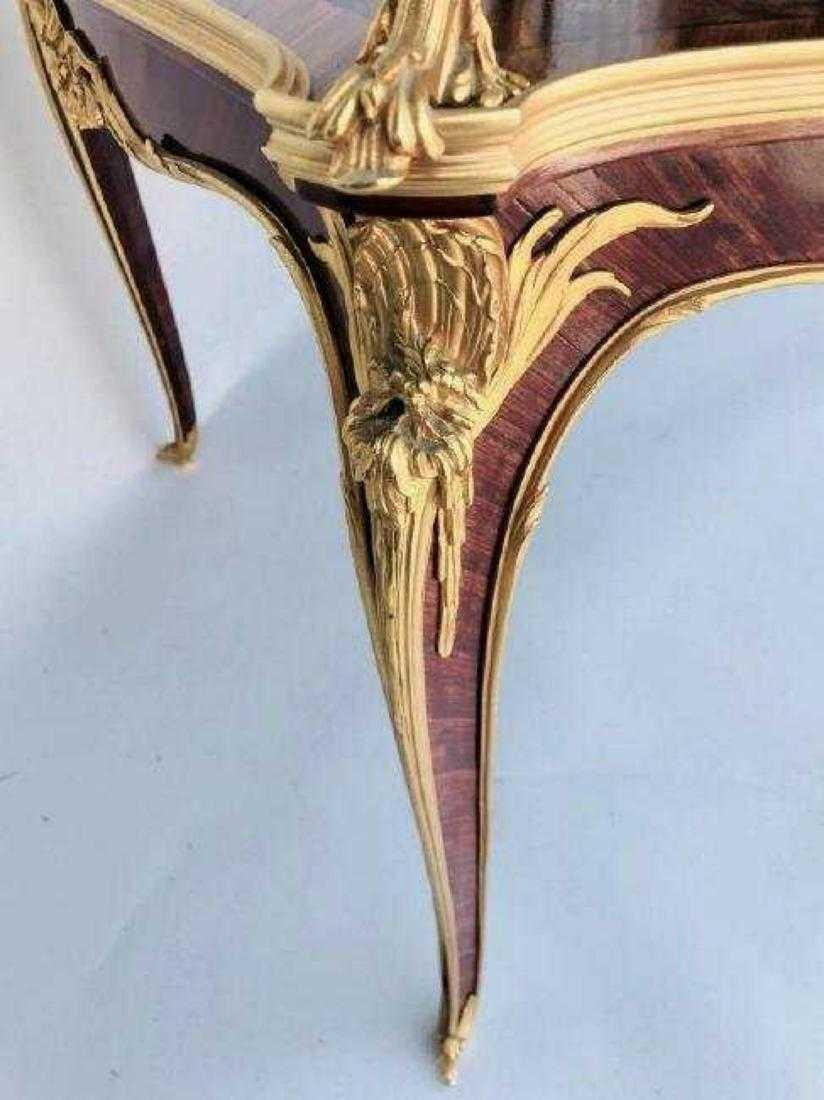 ORMOLU MOUNTED KINGWOOD TEA TABLE SIGNED LINKE - 3