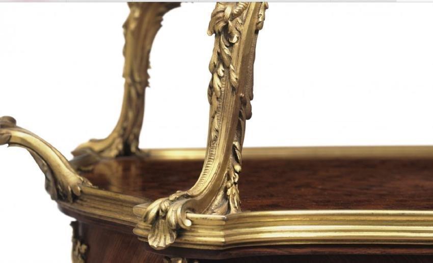 ORMOLU MOUNTED KINGWOOD TEA TABLE SIGNED LINKE - 7