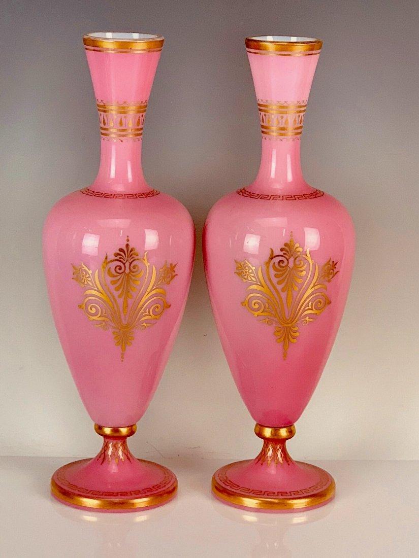 PAIR OF BACCARAT GLASS VASES CIRCA 1850 - 2