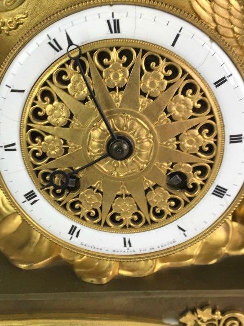 A VERY FINE EMPIRE DORE BRONZE CLOCK BY DENIERE - 3