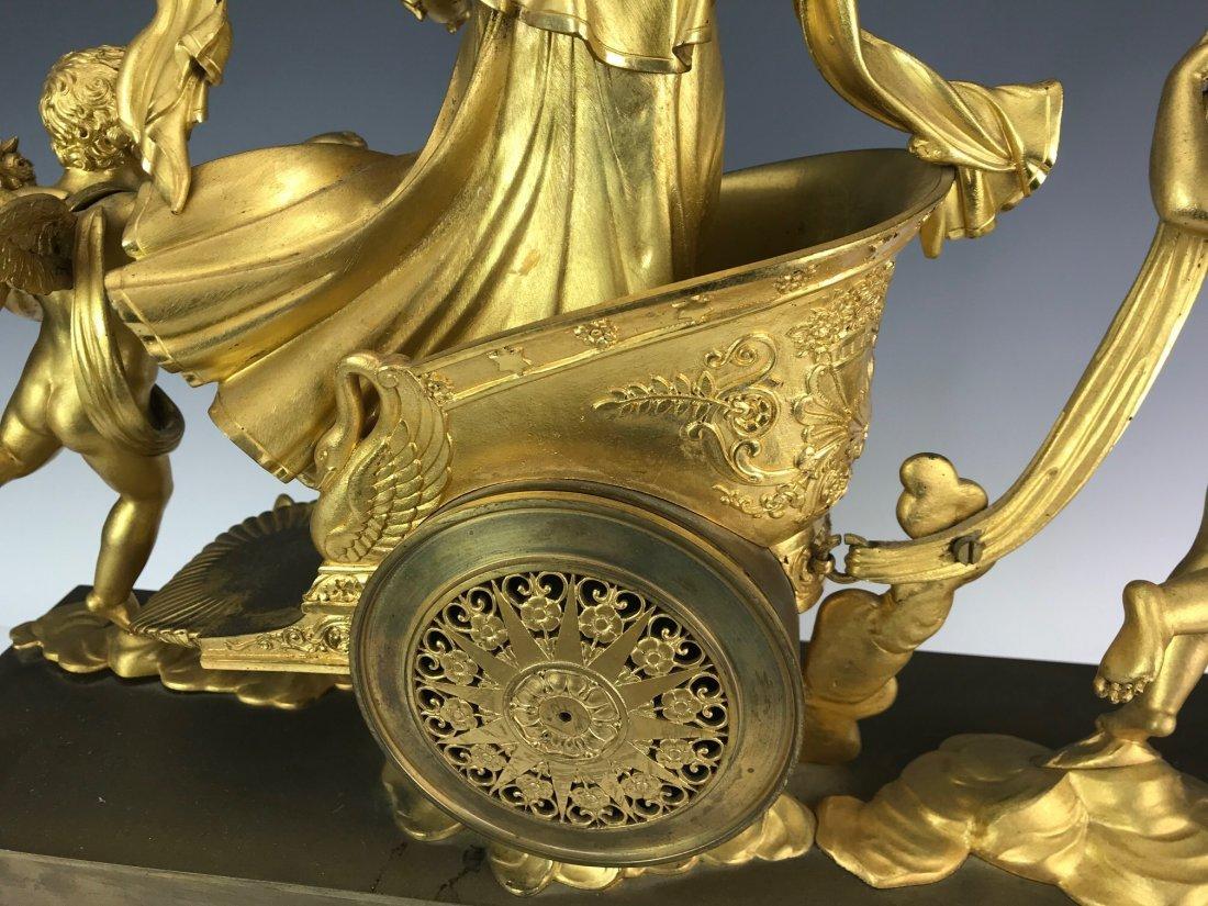 A VERY FINE EMPIRE DORE BRONZE CLOCK BY DENIERE - 5