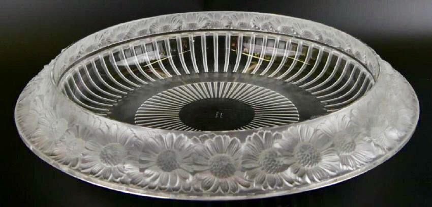 LALIQUE MARGUERITE FROSTED CRYSTAL BOWL