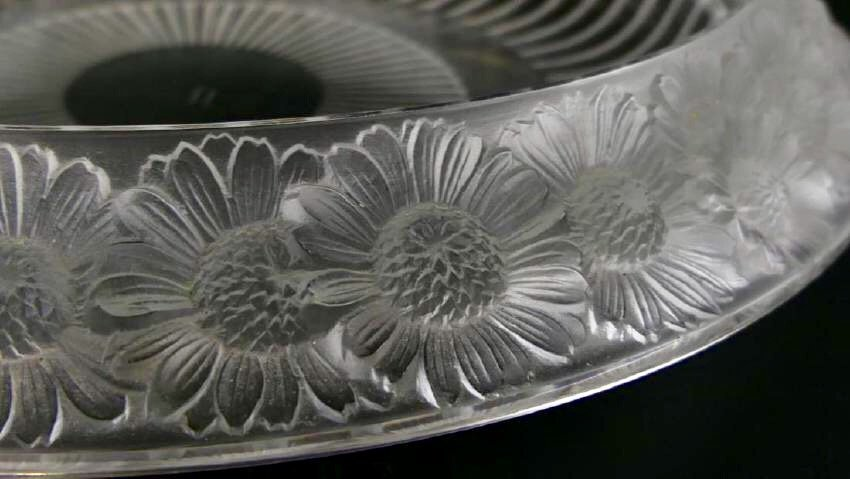 LALIQUE MARGUERITE FROSTED CRYSTAL BOWL - 3