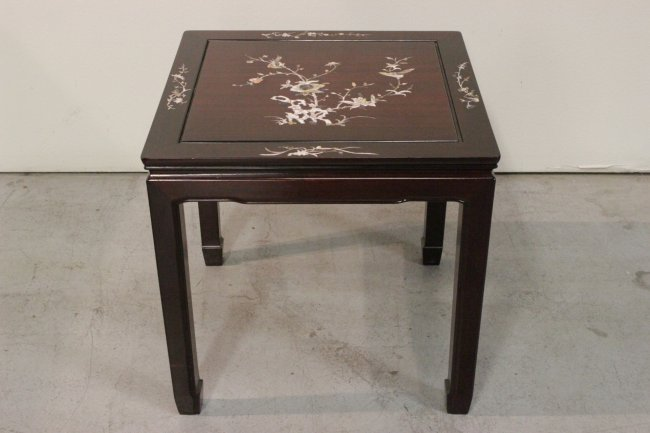 CHINESE ROSEWOOD WITH MOTHER OF PEARL INLAID