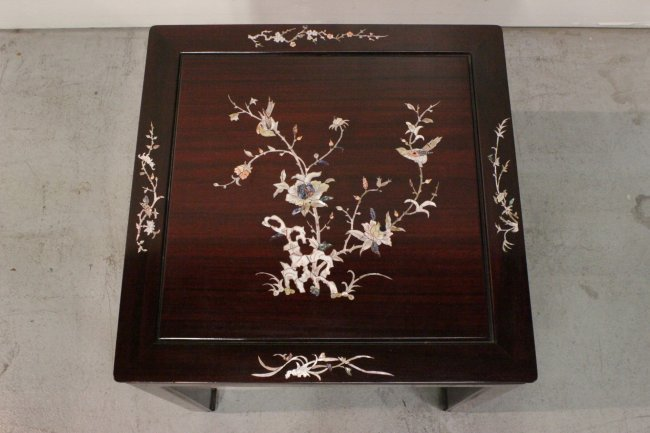 CHINESE ROSEWOOD WITH MOTHER OF PEARL INLAID - 2