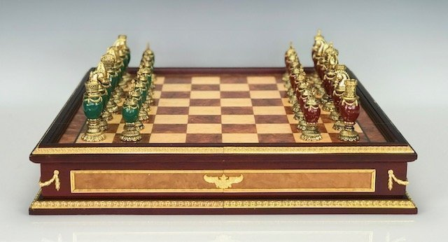 IMPERIAL FABERGE JEWELED CHESS SET
