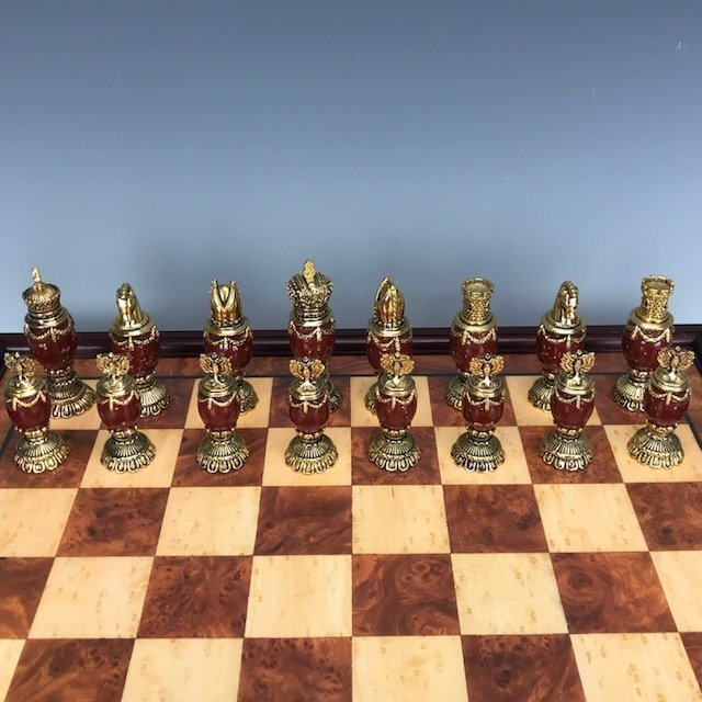 IMPERIAL FABERGE JEWELED CHESS SET - 4