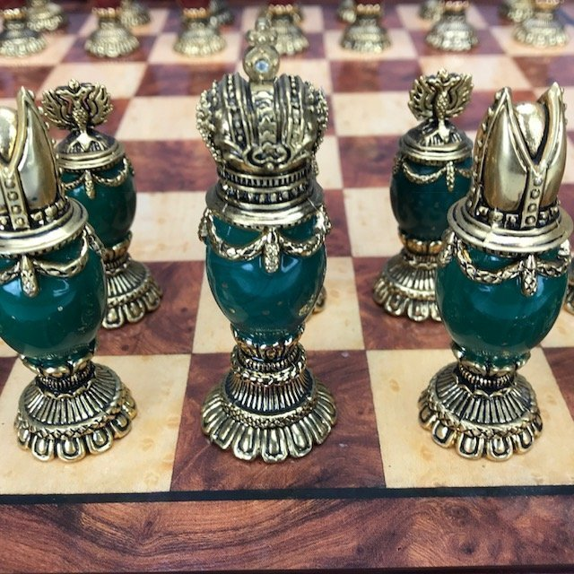 IMPERIAL FABERGE JEWELED CHESS SET - 5