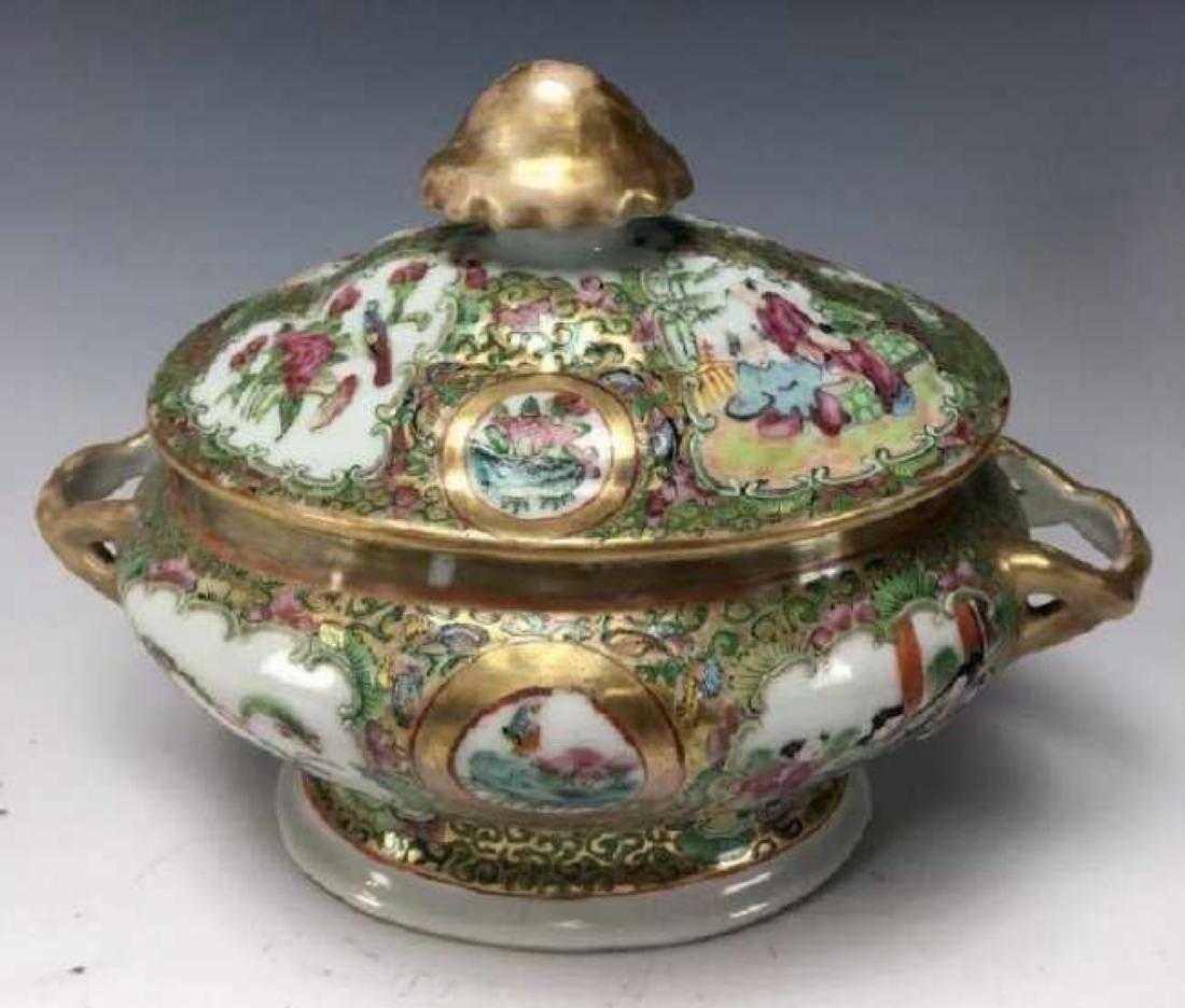 19TH CENTURY CHINESE ROSE CANTON SOUP TUREEN