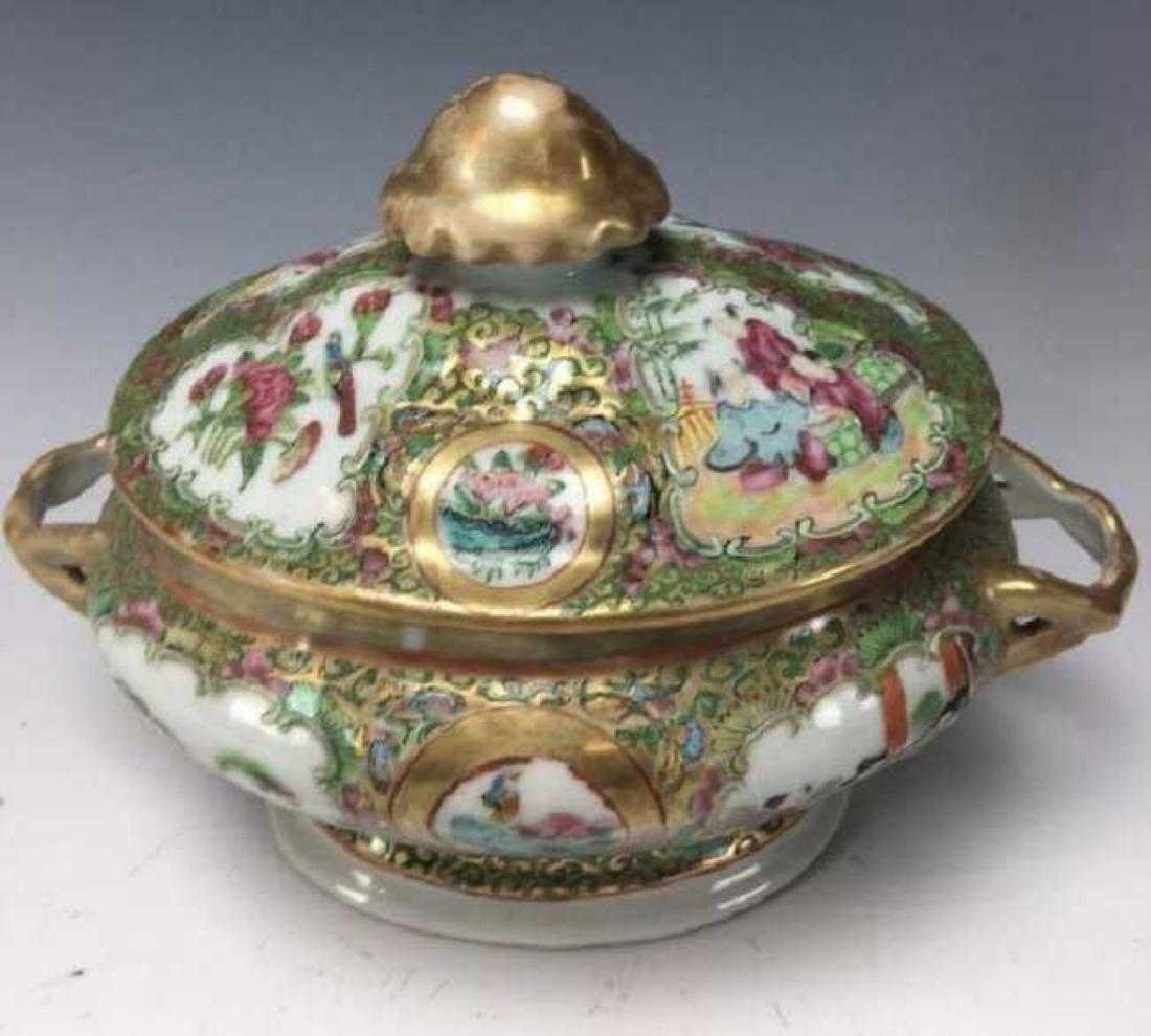 19TH CENTURY CHINESE ROSE CANTON SOUP TUREEN - 2