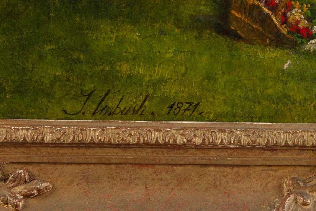 19TH C. CONTINENTAL OIL ON CANVAS PAINTING - 3