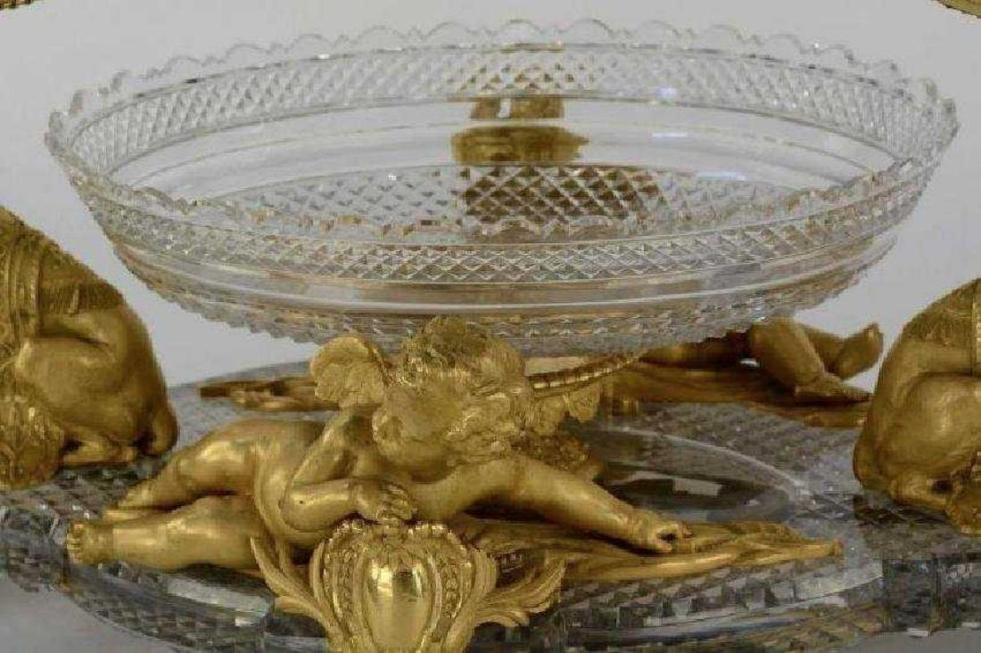 AN IMPOSING ORMOLU AND BACCARAT CRYSTAL GARNITURE - 3