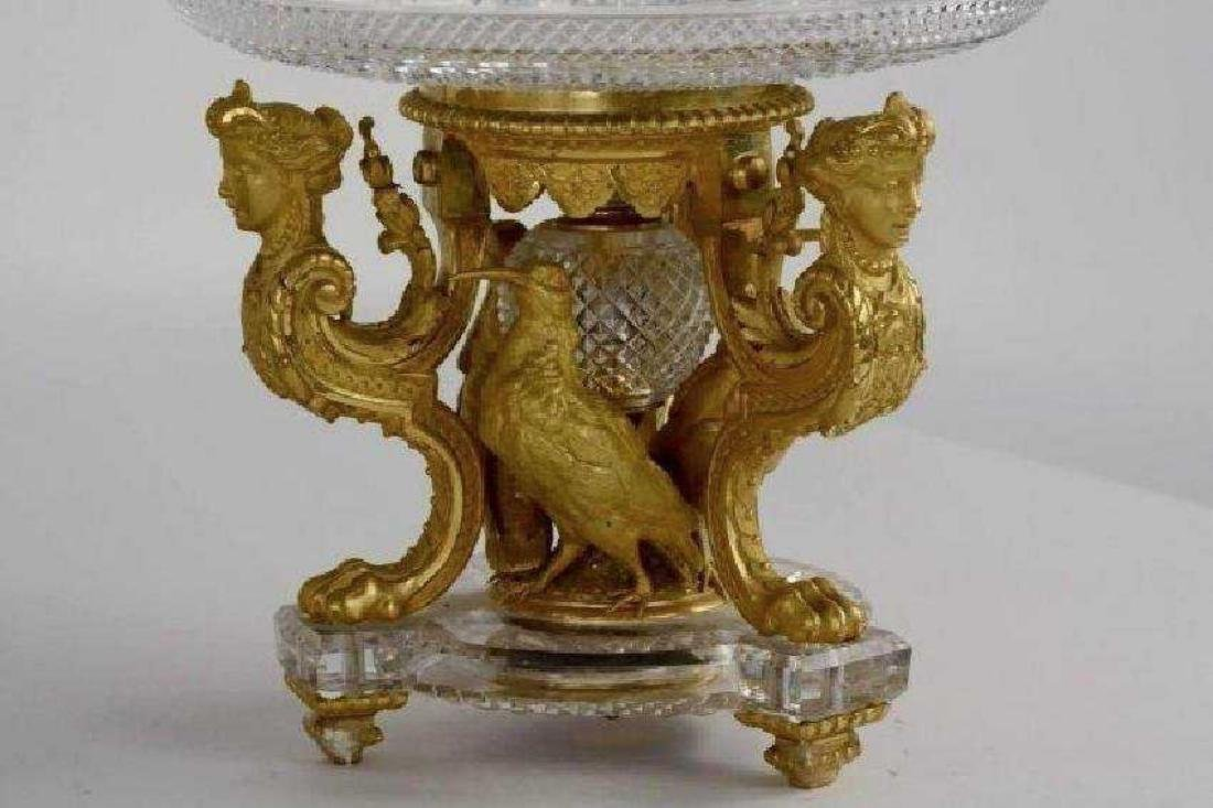 AN IMPOSING ORMOLU AND BACCARAT CRYSTAL GARNITURE - 4