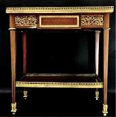 LOUIS XV STYLE DORE BRONZE MOUNTED SIDE TABLE