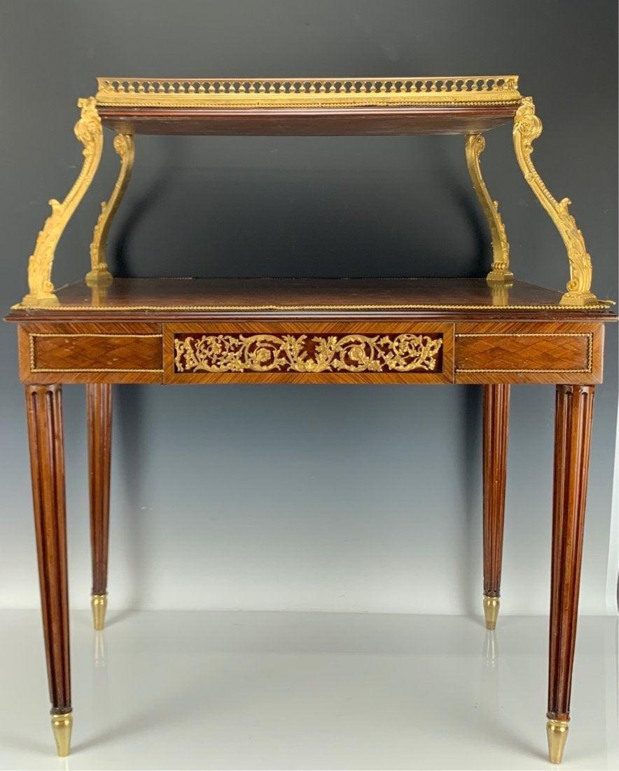 KINGWOOD & TULIP WOOD LOUIS XVI TEA TABLE