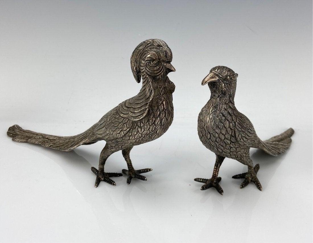 A PAIR OF LARGE MEXICAN STERLING BIRD