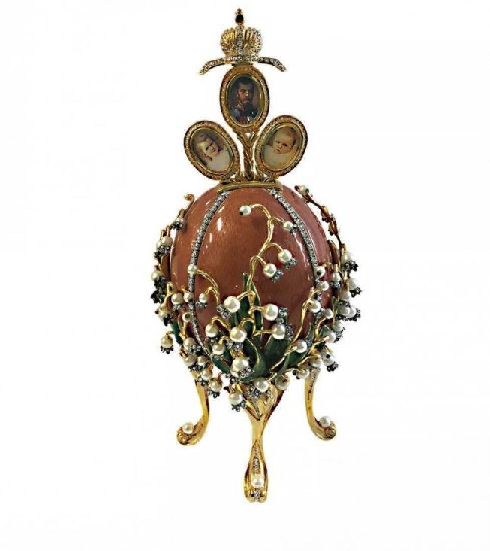 LILLIES OF THE VALLEY HOUSE OF FABERGE EGG