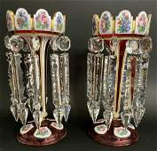 A LARGE PAIR OF 19TH C. BOHEMIAN LUSTERS