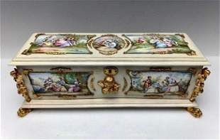 A LARGE 19TH C. VIENNESE ENAMEL BOX