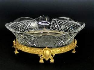 A LARGE ORMOLU MOUNTED BACCARAT CRYSTAL CENTERPIECE