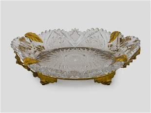 A VERY FINE ORMOLU MOUNTED BACCARAT CENTERPIECE