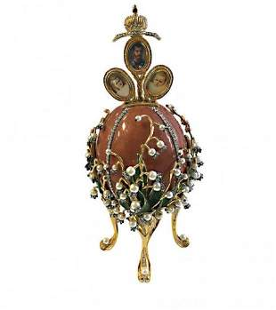 LILIES OF THE VALLEY HOUSE OF FABERGE EGG