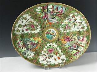 A LARGE 19TH C.CHINESE  FAMILLE ROSE PLATTER