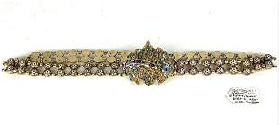 19TH C. RUSSIAN SILVER ENAMEL BELT