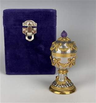 IMPERIAL HOUSE OF FABERGE EGG CLOCK