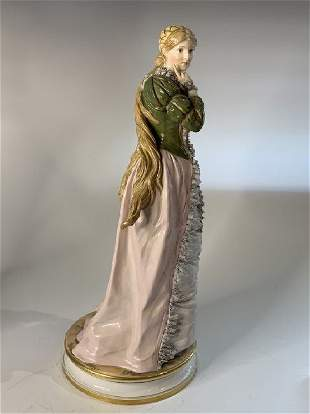 A LARGE MEISSEN FIGURE OF A NOBLE LADY